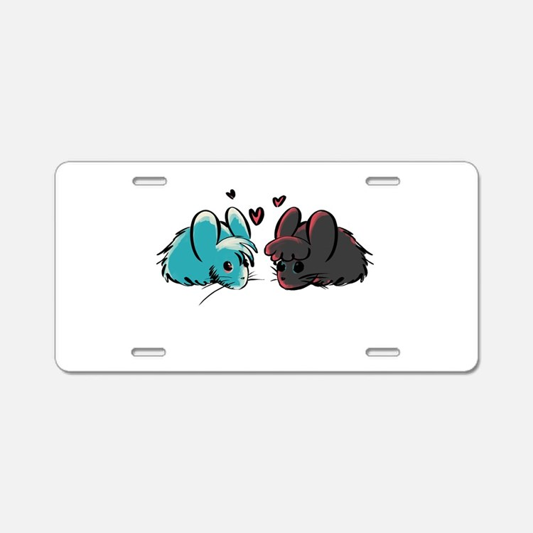 Cuddly Mice Aluminum License Plate