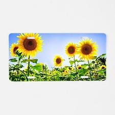 Cute Sunflower Aluminum License Plate
