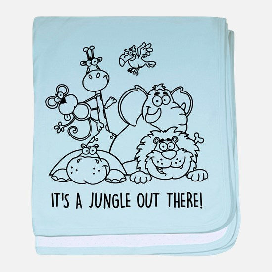 It's a jungle out there baby blanket