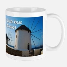 Windmills on Mykonos Island Greece Mugs