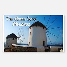 Windmills on Mykonos Island Greece Decal
