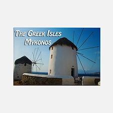 Windmills on Mykonos Island Greece Magnets