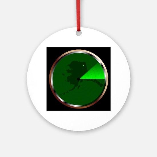 Radar on Alaska Round Ornament