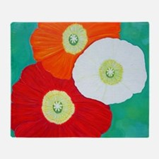Funny Red flower Throw Blanket