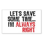 Save Time Rectangle Sticker