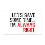 Save Time Mini Poster Print