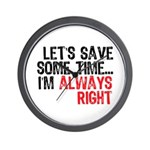 Save Time Wall Clock
