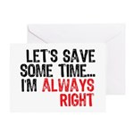 Save Time Greeting Card