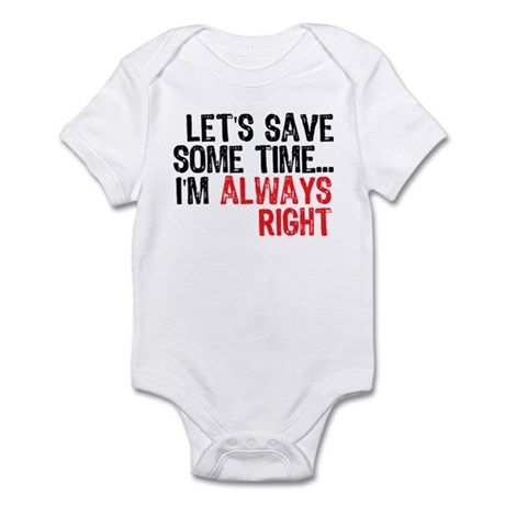 Save Time Infant Bodysuit