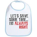Save Time Bib