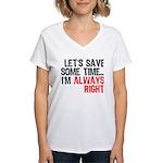 Save Time Women's V-Neck T-Shirt
