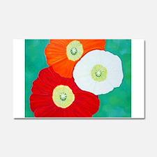 Three Poppies Car Magnet 20 x 12