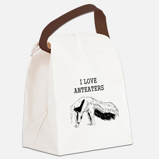 I Love Anteaters Canvas Lunch Bag