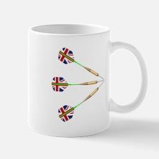 Darts With Union Jack Flag Mugs