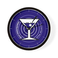 Blue Martini Rings Wall Clock