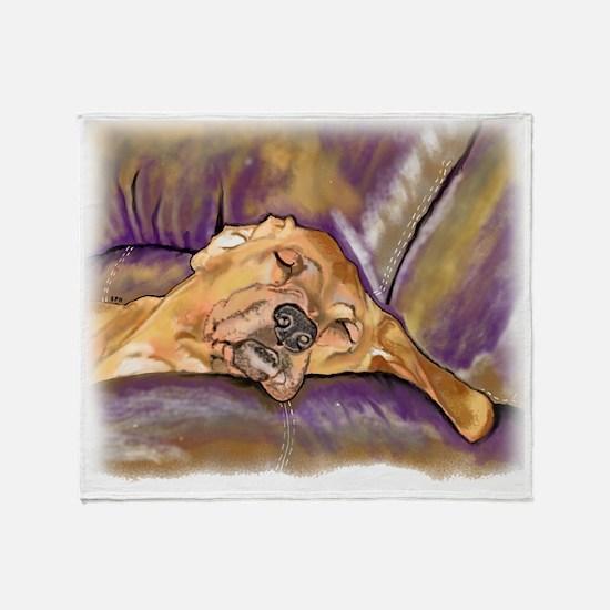 Unique Redbone coonhound Throw Blanket