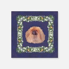 Pekingese Dog Orange Blossoms Sticker