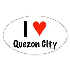 I love Quezon City Oval Decal