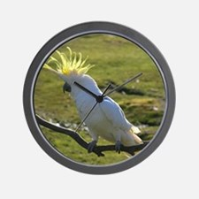 Yellow Sulphur-Crested Cockatoo from Au Wall Clock