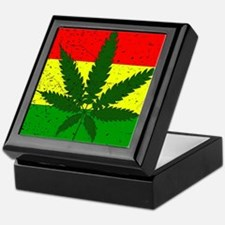 Rastafarian Flag Keepsake Box