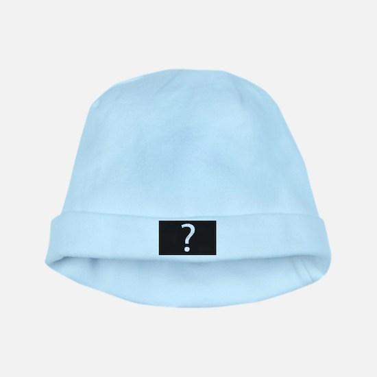 Question Mark Blackboard baby hat