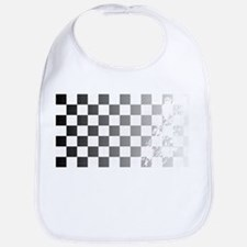 Chequered Flag Grunge Bib