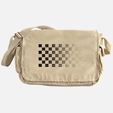 Chequered Flag Grunge Messenger Bag