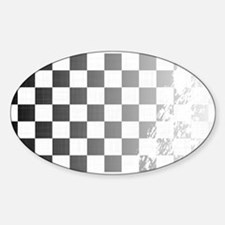 Chequered Flag Grunge Decal