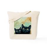 Black cat Canvas Bags