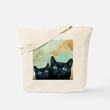 Cat 607 black Cats Tote Bag