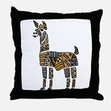 Llama Art Throw Pillow