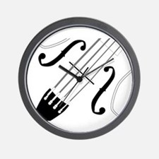 Fiddle Close Up Wall Clock