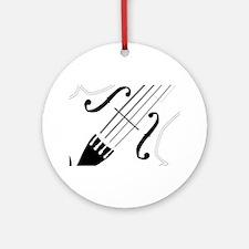 Fiddle Close Up Round Ornament