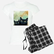 Cat 607 black Cats pajamas