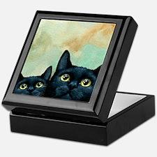 Cat 607 Black Cats Keepsake Box
