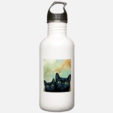 Cat 607 black Cats Water Bottle