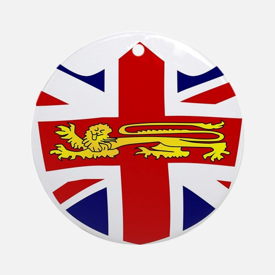 British Shield Emblem Round Ornament