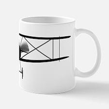 Biplane Silhouette Mugs