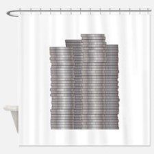 Pieces of Silver Shower Curtain