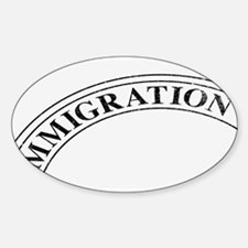 Immigration Stamp Decal