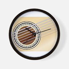 Guitar Piano Soundhole Wall Clock
