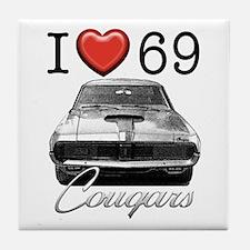 69 Cougar Tile Coaster