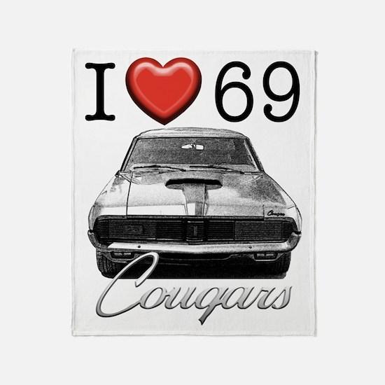 69 Cougar Throw Blanket