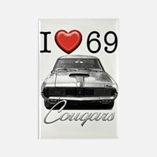 69 Cougar Rectangle Magnet