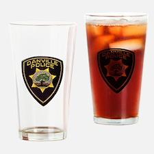 Danville Police Drinking Glass