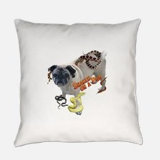 Snakes on a Pug Everyday Pillow