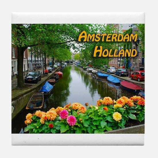 Amsterdam Holland Travel Tile Coaster
