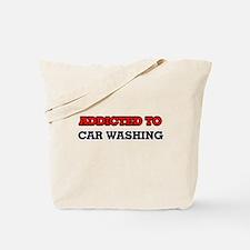 Addicted to Car Washing Tote Bag