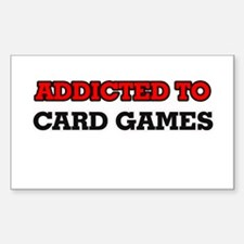 Addicted to Card Games Decal