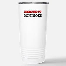 Addicted to Dominoes Stainless Steel Travel Mug